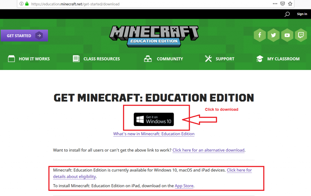 mincecraft education edition
